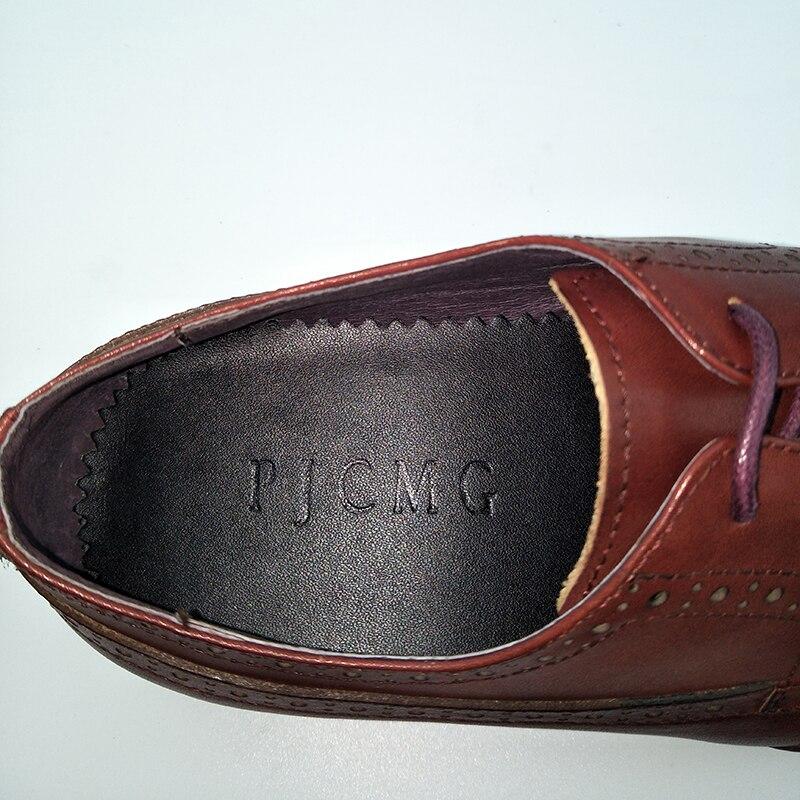 PJCMG Mode Krokodil Patroon Ademend Hoge Kwaliteit Lederen Laarzen Klittenband Puntschoen Oxford Enkellaarsjes Voor Mannen - 6