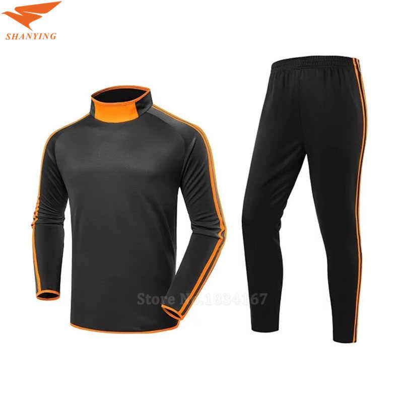 17216e02b6fa Футбол спортивный костюм для мужчин с длинным рукавом спортивная форма  Training Survete t футбол 2017 Chandal