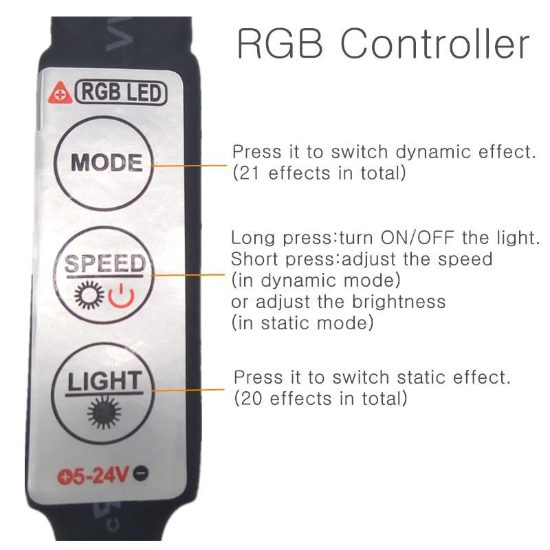 5V LED Strip Qara PCB nəzarətçi ilə 5050 RGB DC5V TV Fon İşıq - LED işıqlandırma - Fotoqrafiya 3