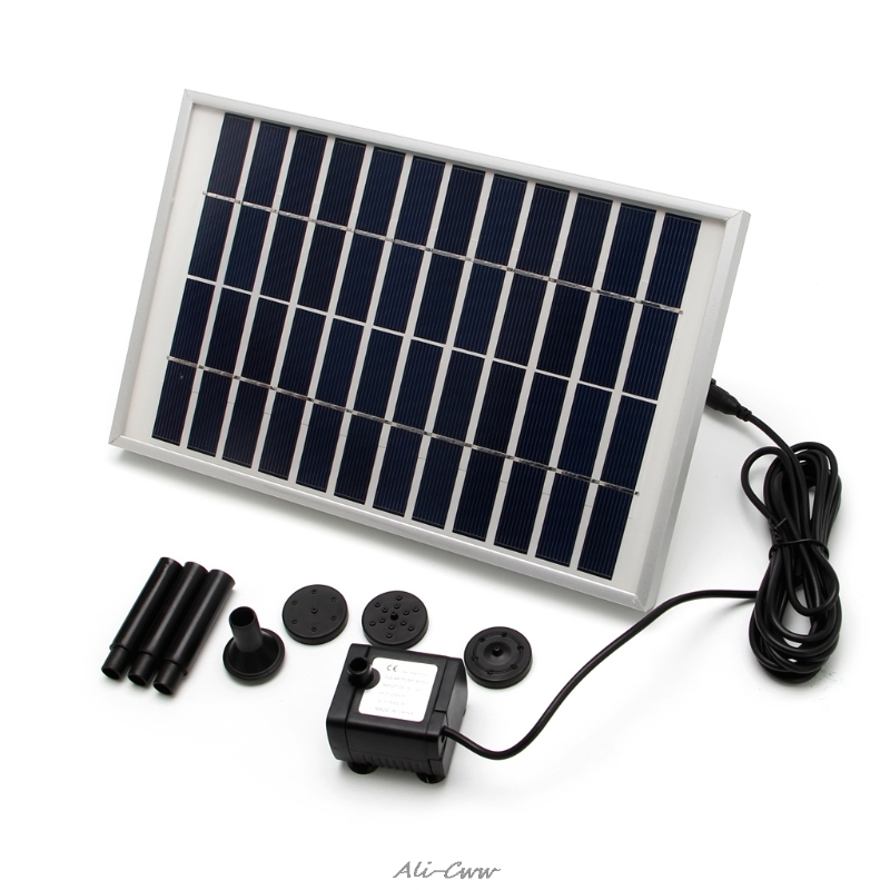 12v/5w Solar Fountain Garden Water Pump For Landscape Pool Maximum Flow 380l/h Lovely Luster Home Improvement