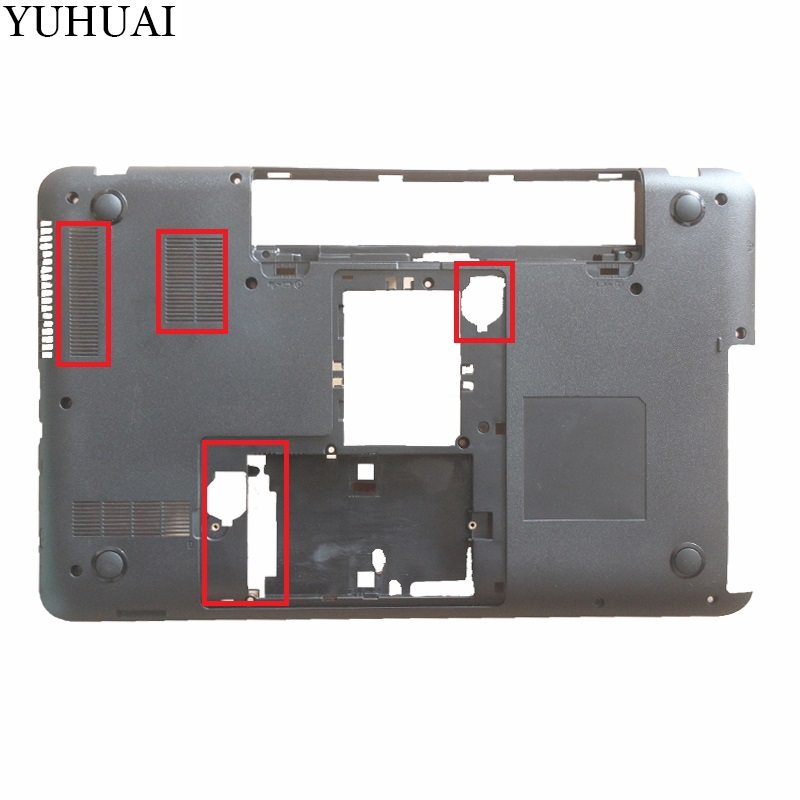 NEW Case Bottom For TOSHIBA L850 L855 C850 C855 C855D V000271660 Base Cover Series Laptop Notebook Computer Replacement new case cover for toshiba satellite l850 l855 c850 c855 c855d palmrest cover without touchpad laptop bottom base case cover