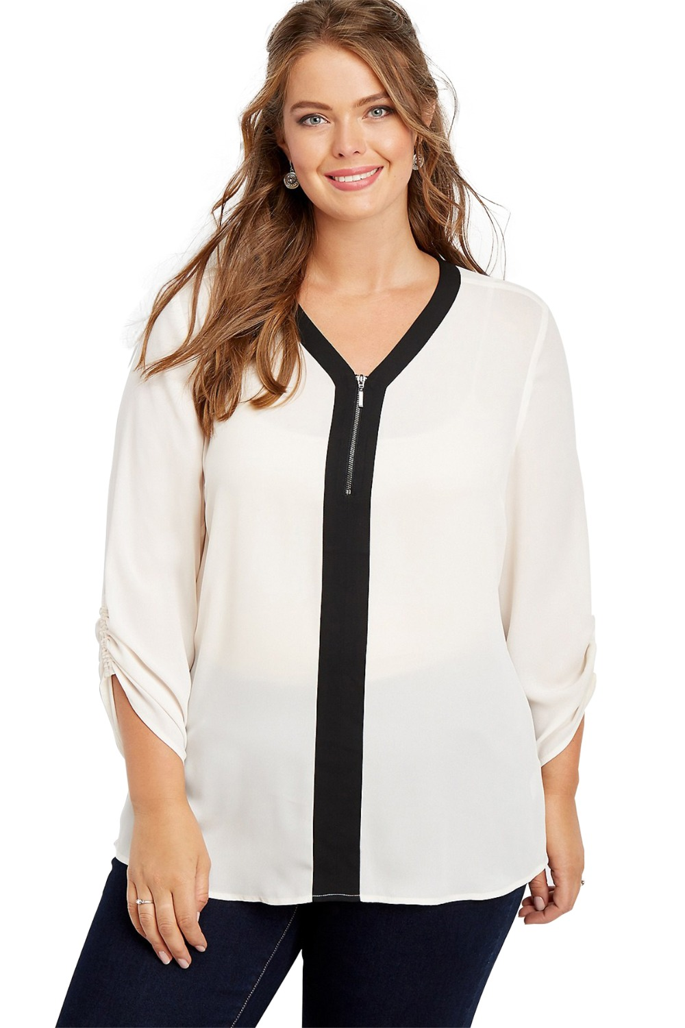 d5aa1ab8752e04 Detail Feedback Questions about Gosopin Casual Plus Size Blouse ...