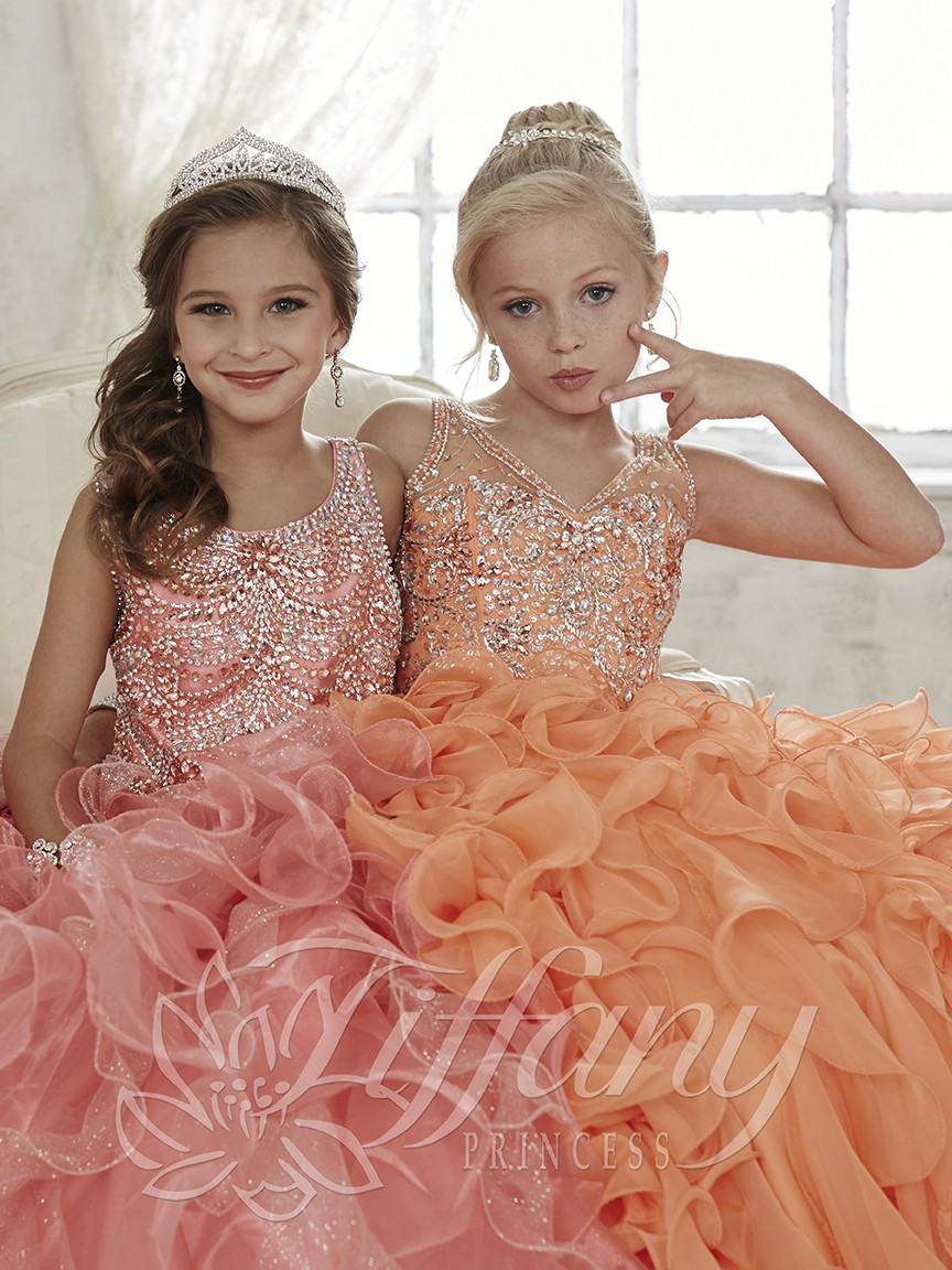 vestido de festa Ball Gown   flower     girl     dresses   Organza Ruffles   Girl's   Pageant   Dresses   prom   dresses   children