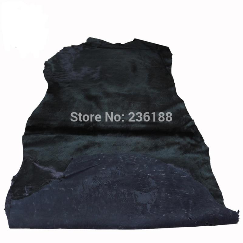 Weiche schwarze echte Kalb-Haar-Leder-Haut für Kissen / - Kunst, Handwerk und Nähen - Foto 2