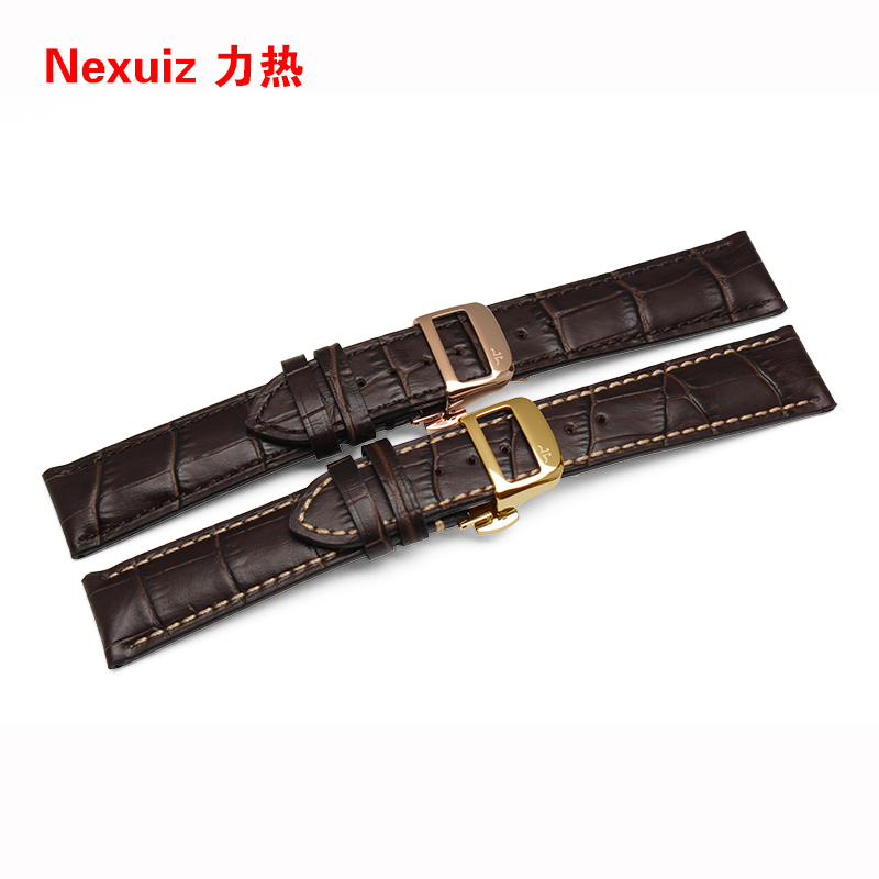 High-quality Genuine Leather, Watch Accessories,19mm 20mm 21mm 22mm Strap Belt,Black ,Stainless steel buckle Free shipping jacques lemans часы jacques lemans 1 1461m коллекция classic