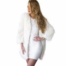 New Winter Warm Long Sleeve Women Basic Faux Fur Coat Jacket Parka Windbreaker Female Outerwear Lady Suit Overcoat Manteau Femme