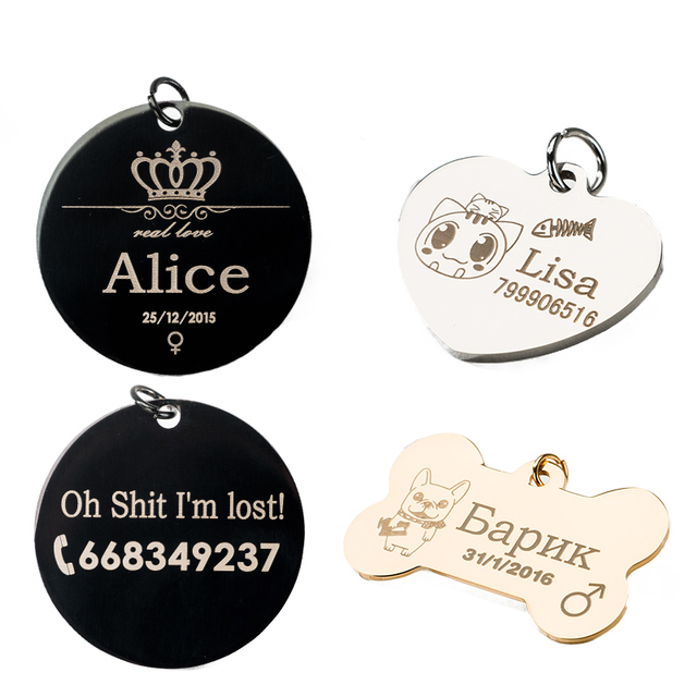 Hipidog Spedizione Incisione Dog Tag Collare Dell'animale Domestico Accessori De