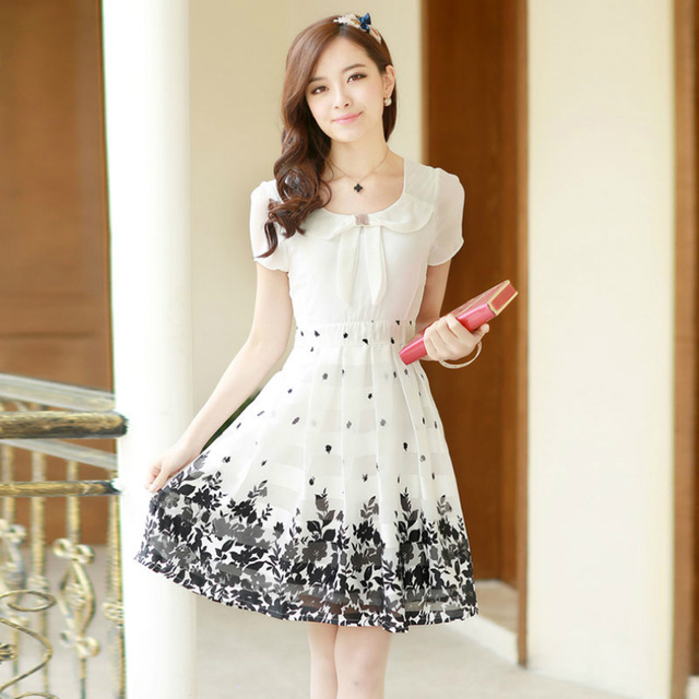 53224fb472b Women Summer White Lace Chiffon Dress Ladies Summer Dresses Casual Sexy  Lady Hot Dresses Chiffon Dress Short Sleeve Plus Size