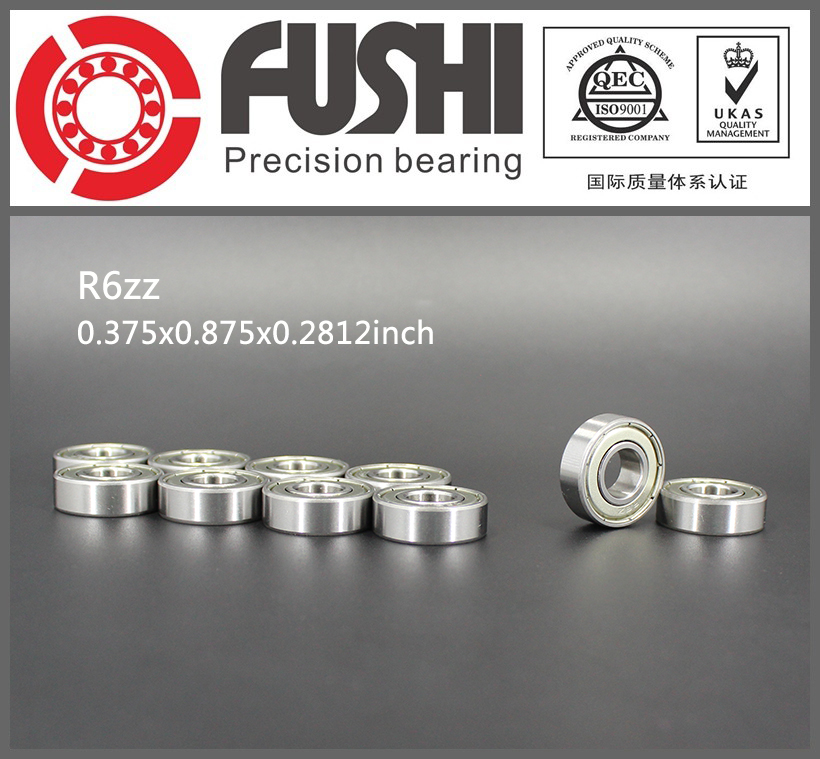 R6ZZ Bearing ABEC-1 (10PCS) 3/8x7/8 9/32 inch Miniature R6 ZZ Ball Bearings For RC Models R6-2Z 1 8 traxxas style bead 3 8 inch wheelset w offset rc l t3217bh