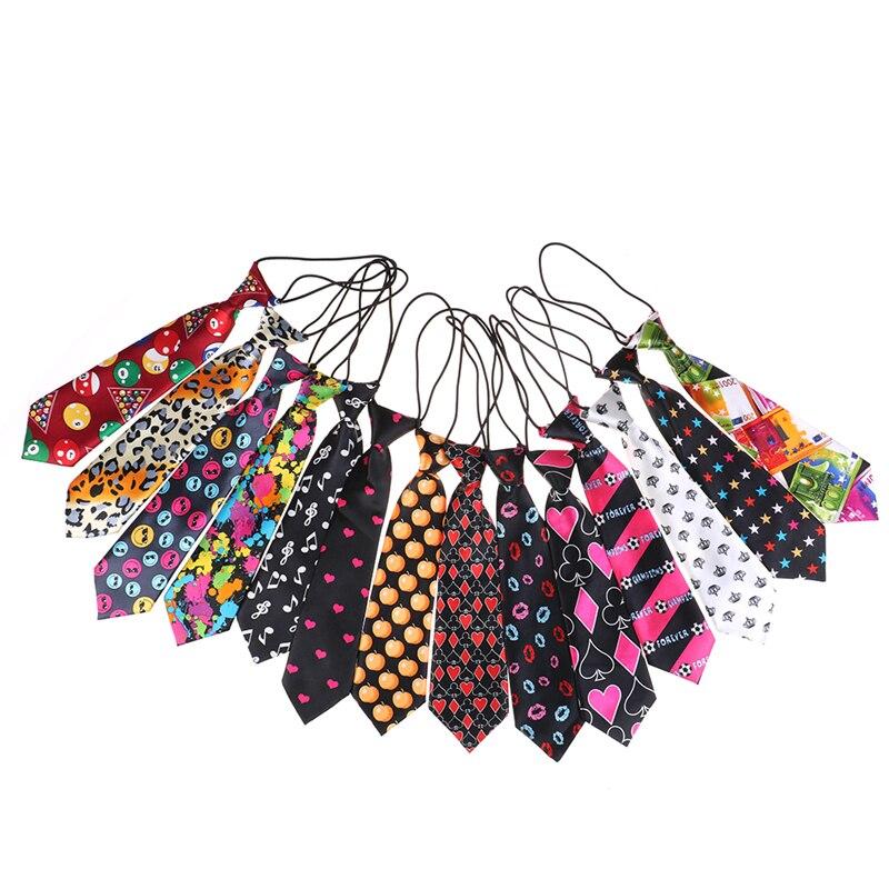 Colorful Printed Elastic Tie Cute Girls Boys Chirldren Wedding Party Necktie Suit Baby Neckwear Elegant Fashion NEW