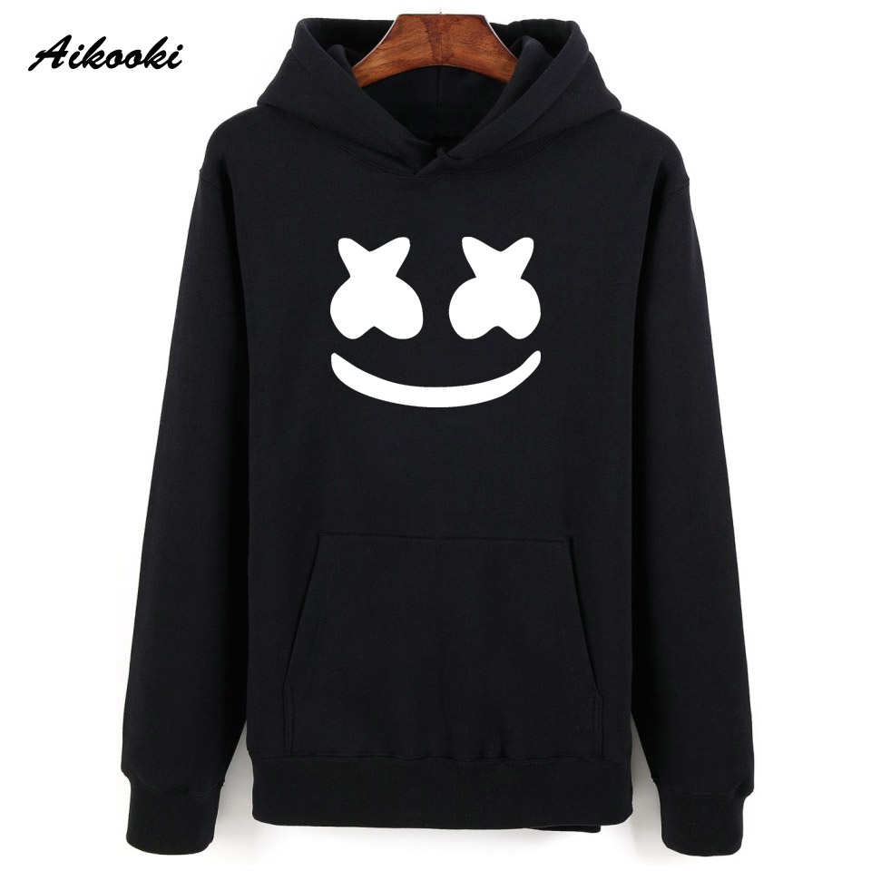 Aikooki Funny Smile Face Hoodies Sweatshirt Men And Women Pullover Hooded Autumn Spring Casual Fashion Smile Design Hoody Shirts