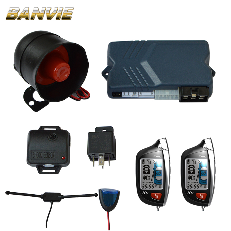 2 Two Way Car Alarm Security System with Anti Theft Keyless Entry Central door Locking Trunk