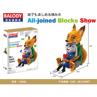 Balody Diamond Blocks cute Rabbit Fox Model Plastic Building Toy Stitch Auction Figures Brinquedos for Children Gifts