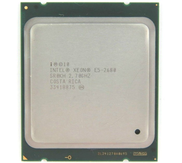Processeur Intel Xeon E5 2680 2.7 GHz 20 M Cache 8 GT/s LGA 2011 SROKH