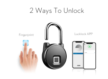 bluetooth Rechargeable Smart Lock Keyless Fingerprint Lock IP66 Waterproof Anti-Theft Security Padlock Door Luggage Lock FLP22