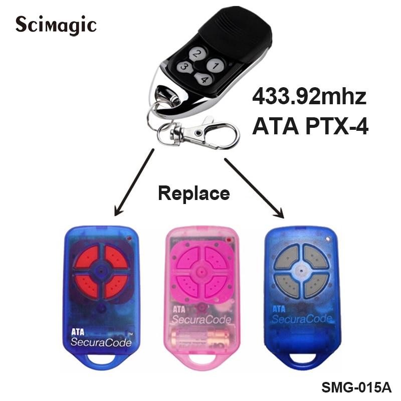 ATA Compatible Ptx4 Garage Door Remote Control PTX-4 - Batteries Included