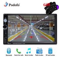 Podofo 2din Car Radio Bluetooth Stereo Multimedia Car Autoradio MP5 Player 7 Touch Screen Auto Radio Support Rear View Camera