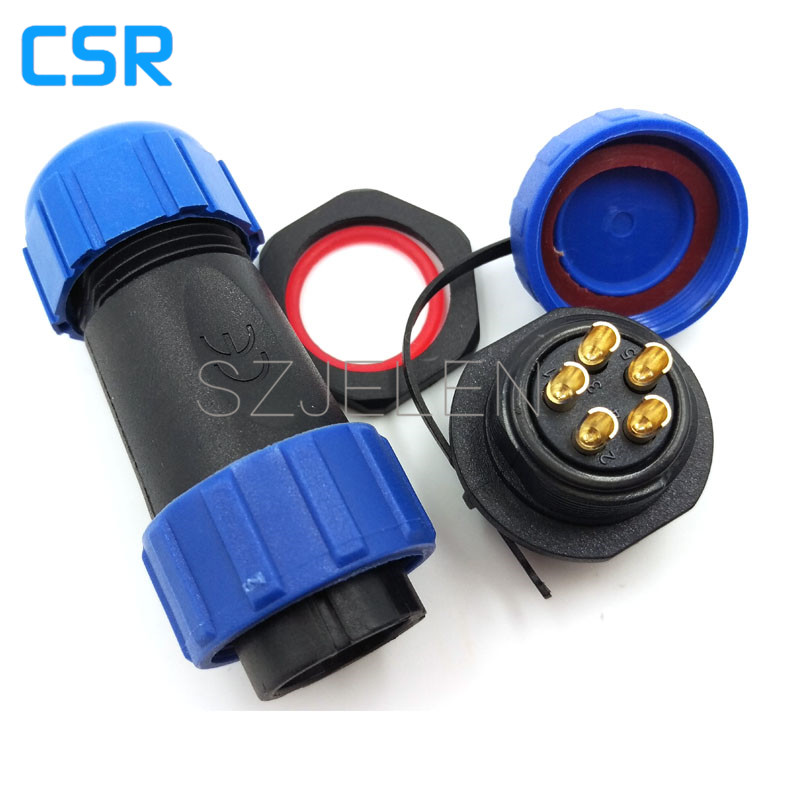 SP2110/P5-S5, 5 pin Male and female butt aviation plug, industrial plug, LED waterproof cable connector plug socket male plug docking plug gx12 aviation circular connector 2 pin plug 3pin4pin 5pin6pin7pin 12mm butt plugs rs765