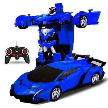 Dječja igračkea, Električni RC Sportski Auto Otporan na udarce, Transformacija Robot Igračke u auto, Daljinski upravljač,transformacijski Auto RC Robot 1
