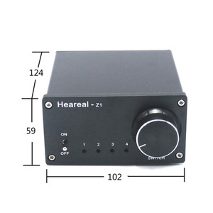 Image 2 - Lusya 4 Input 1 Output/ 1 Input 4 Output Two way Audio Signal Switcher Switch Splitter Selector with RCA AC100V 240V  l1 002