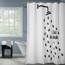 Happy Tree Polyester Classic Black White Shower Waterproof Shower Curtain Thick Fabric Bathroom Curtain Water Drip Bath Curtain waterproof happy halloween ghost bath curtain