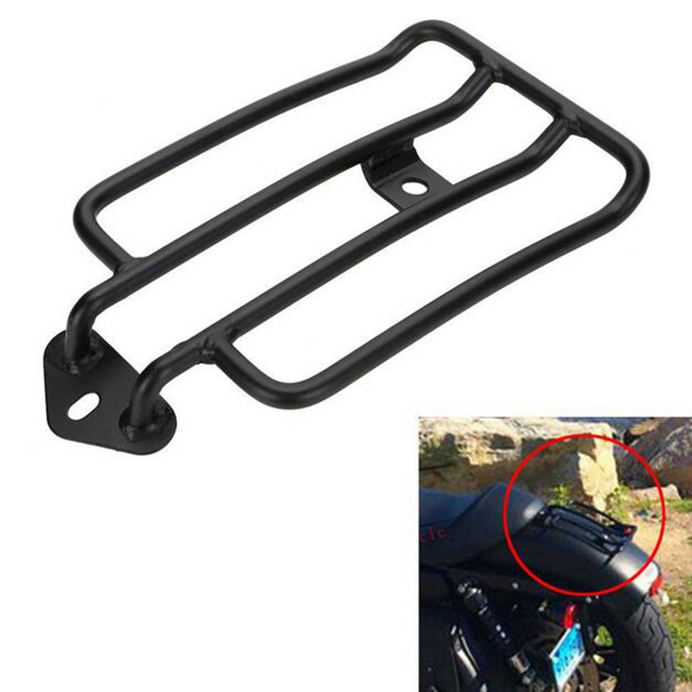 Black Solo Seat Luggage Rack Fits For Harley Sportster XL883 <font><b>1200</b></font> 2004-2015 New image