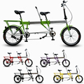 Telescopic Folding Tandem Bike / Built For Two.Foldaway Bicycle as Best Valentines Gift,High Quality !