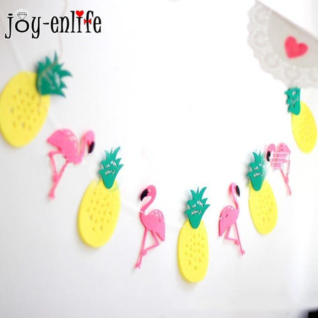 Aliexpresscom Buy JOY ENLIFE 1set Felt Flamingo Pineapple