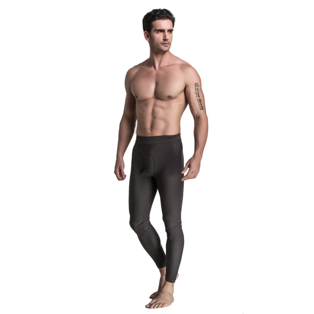 Winter Mens HEATMX Long Underpants Compression Pants Hip Shapewear Thermal Bodysuit Seamless Underwear