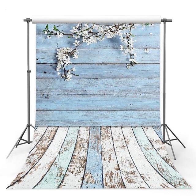 Photographic backgrounds Old Shabby Light blue Wood Photo Background, vintage wood planks food photo shoot Floor