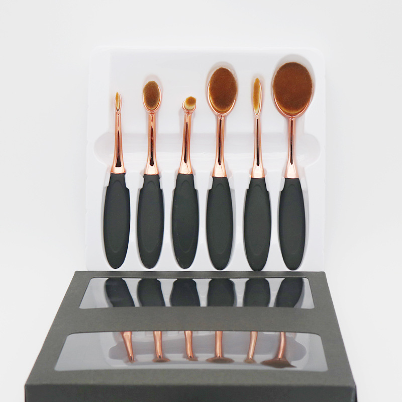 6pcs/Sets The new Manufacturers Spot Straight For The Twist Sets of Makeup Brush Can be Bent Handle Handle Rose Gold Makeup Brus manufacturers price straight for 532nm hair eyebrow qubanqudou nenfu opt laser probe