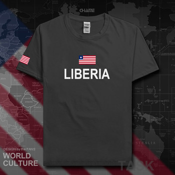 Liberia Liberian t shirt fashion 2017 jersey nation team 100% cotton t-shirt gyms clothing tees country sporting tshirt LR LBR image