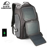 Kingsons мини рюкзак Для мужчин Для женщин Солнечный зарядка через usb Anti Theft Bagpack 15,6 дюймов ноутбука Back Pack для подростка мальчиков дорожная сумка
