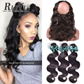 360 Lace Frontal Closure With Bundles Peruvian Body Wave 360 Lace Frontal With Bundle Top Pre Plucked 360 Frontal With Bundles