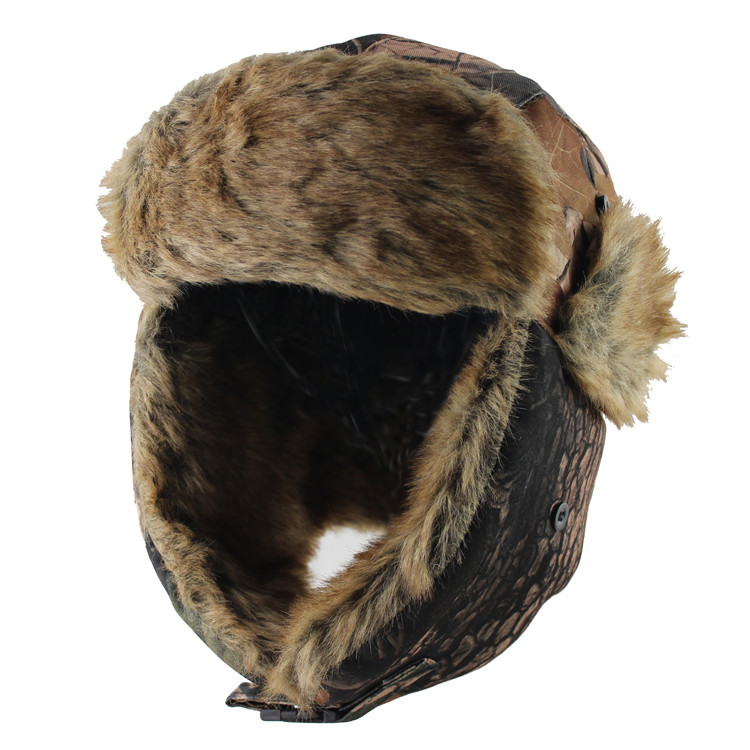 HTB1XnlLlh6I8KJjSszfq6yZVXXao 2018 New Men Bomber Hats Winter Trooper  Trapper Hat Ushanka Russian Hat with Faux Fur 0b38fc692723