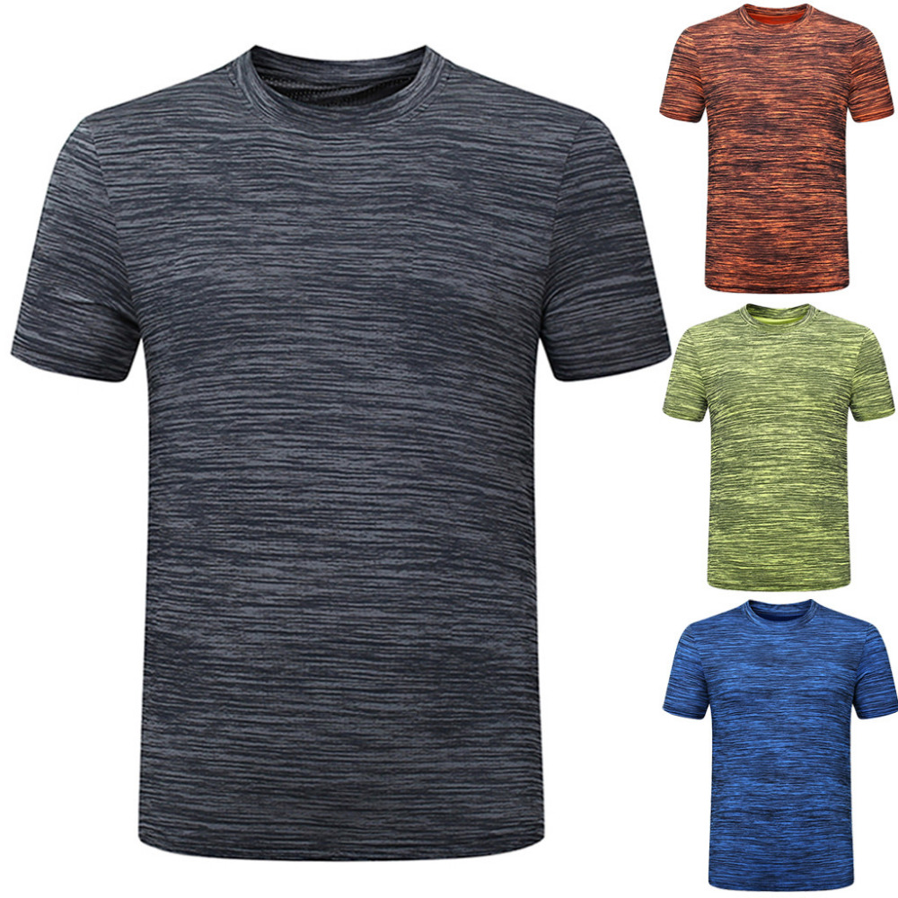 Fast-Dry Breathable Top Mens Summer Casual O-Neck T-Shirt Fitness Sport Blouse