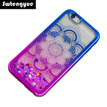 For iPhone 5S SE case Glitter Dynamic Quicksand Liquid Back Cover Phone Case for iPhone 6S 6S plus cases for iPhone 7 7 plus