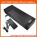 24 В 1000 Вт Электрический велосипед литиевая батарея 24 В 35AH Применение 3.7 В 2500 мАч ячейке с 50A BMS 5 В USB Порты и разъёмы и хвост Light 29.4 В 3A зарядное у...