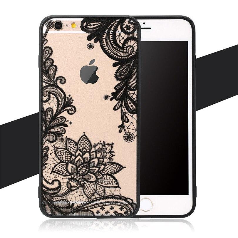 Helado de lujo sexy encaje floral mandala flor del teléfono case para apple ipho