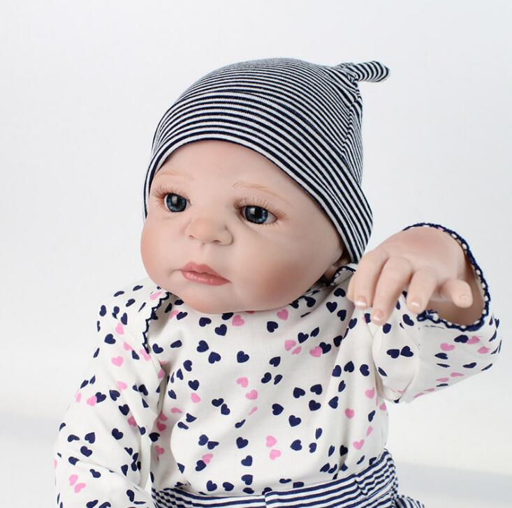 22 inch babies reborn silicone Collection BEBE reborn the silicone girl body BeBe Reborn Doll PP Cotton Body reborn babies 22 inch babies reborn silicone collection bebe reborn the silicone girl body bebe reborn doll pp cotton body reborn babies
