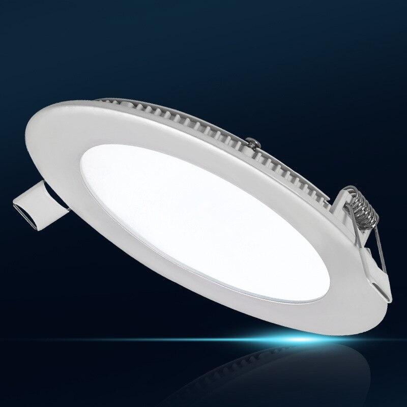La luz de techo led ultrafina más barata 3W / 4W / 6W / 9W / 12W / 15W blanca / cálida luz de panel led de alto brillo blanco envío gratis