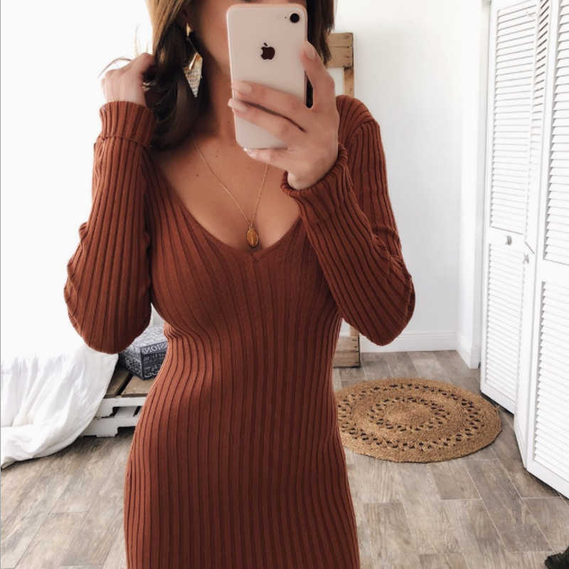 9c9a6eb2c6a ... Warm and Charm Women Sweater Dress 2018 Fall Winter Long Sexy Lurex  Bodycon Dresses Elastic Striped ...