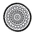Elegante 2016 chegada nova rodada hippie mandala tapeçaria praia jogar roundie jl23 toalha yoga mat estilo bohemian frete grátis