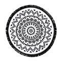 Elegante 2016 nueva llegada redondas hippie mandala tapiz playa tiro roundie toalla yoga mat estilo bohemio envío libre jl23