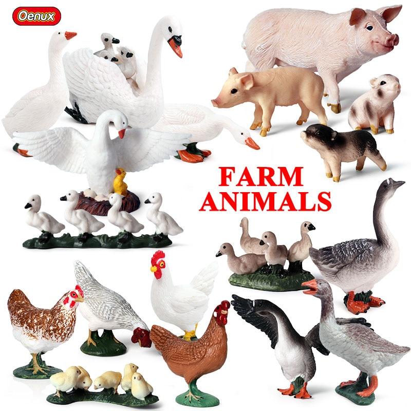 14pcs//set Animals Model Farm Horse Pig Kid Gifts Teaching Zoo PVC Action Useful