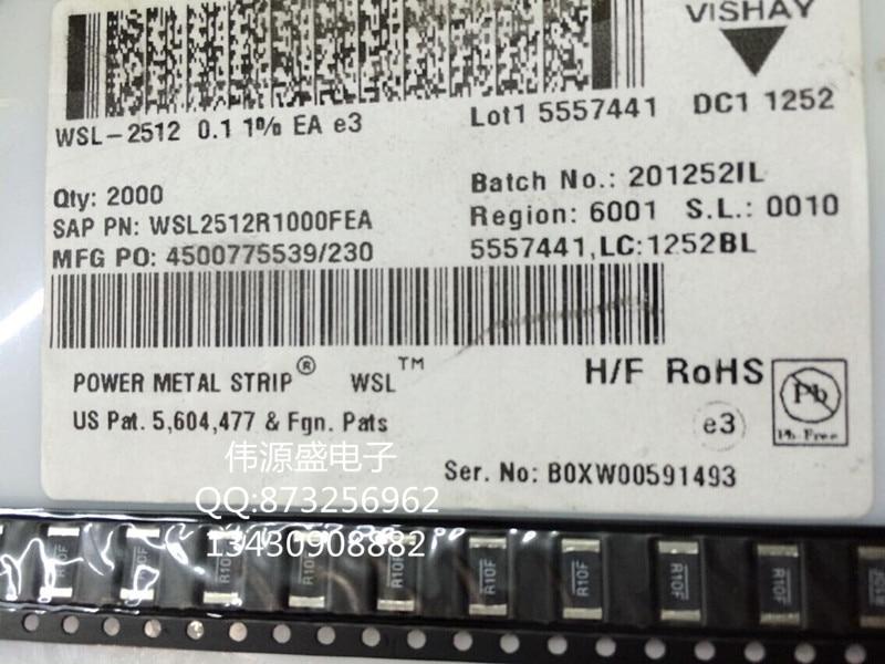Wsl2512r1000fea 1 Вт 0.1R R10F 100mR 1% VISHAY токочувствительные резисторы