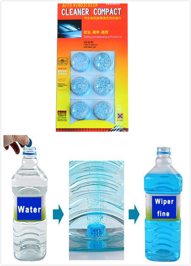 Amazing New Arrival Auto Windscreen Cleaner Car Windscreen Cleaning Agent Pills Effervescent Tablets