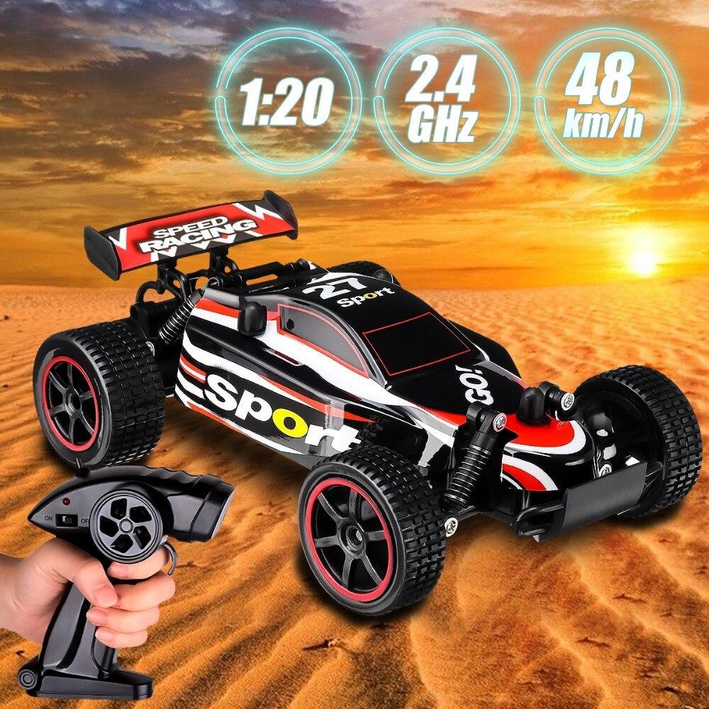 Nuevo RC coche UJ99 2,4g 20 km/h de alta velocidad coche de carreras de escalada RC coche de Control remoto de coche camión de carretera 1:20 RC