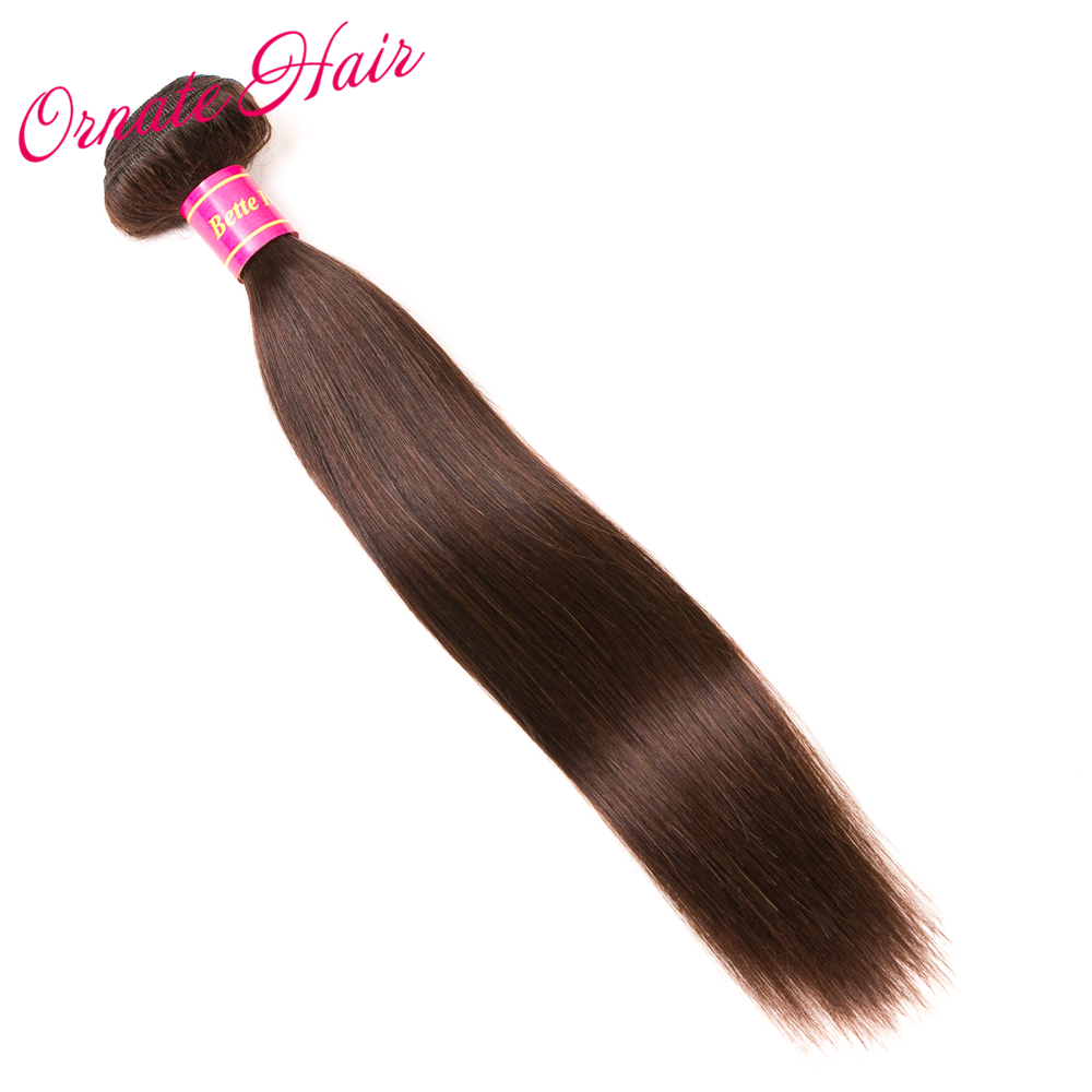Ornate Brazilian Straight Hair 1 Piece Human Hair Weave Non Remy Brazilian Hair Extension Dark Brown 8-28 Inch Free Shipping