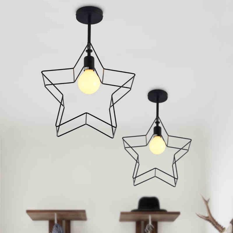 Modern Decorative Star Ceiling Lamp Loft Style Ceiling